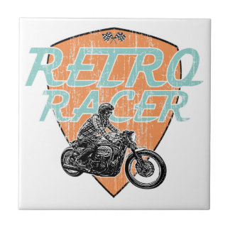 Moto riders ceramic tile