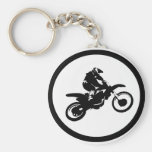 MOTO THE BASIX BASIC ROUND BUTTON KEYCHAIN