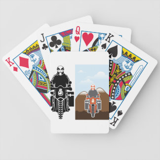Moto Travel vector Bicycle Playing Cards