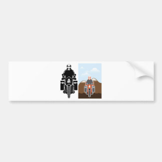 Moto Travel vector Bumper Sticker