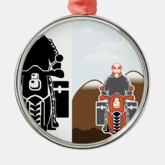 Moto Travel vector Metal Ornament