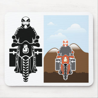 Moto Travel vector Mouse Pad