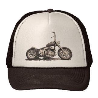 Moto vieja fresca gorra