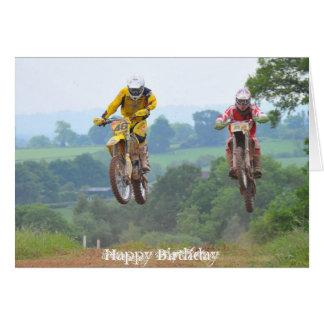 Moto X Birthday Card Motocross