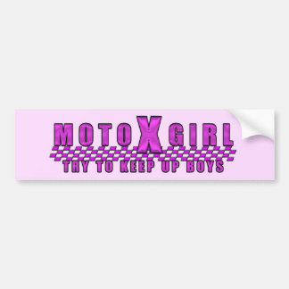 Moto X Girl Bumper Sticker