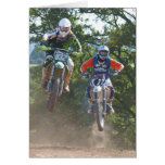 Moto X Greetings Card motocross
