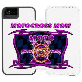 Moto X Helmet skull for a motocross mom iPhone SE/5/5s Wallet Case