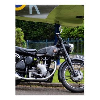 Moto y Spitfire Tarjetas Postales