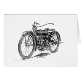 Motocicleta 1918 del vintage tarjetón