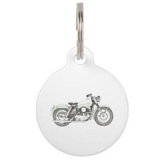 Motocicleta 1957 de Sportster Placa De Mascota