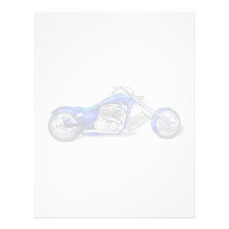 Motocicleta 1 - Azul Membrete Personalizado