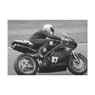 motocicleta 848 lona envuelta para galerias