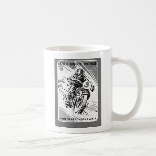 Motocicleta a solas del Matchbook del vintage del Taza Clásica