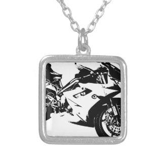 motocicleta agresiva del deporte colgante cuadrado