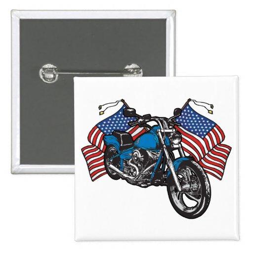 Motocicleta americana del motorista pins