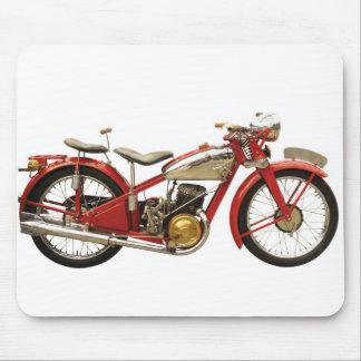 Motocicleta antigua alfombrillas de ratón