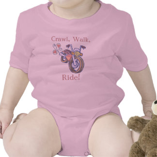 ¡Motocicleta, arrastre, paseo, paseo! Trajes De Bebé
