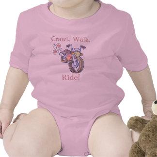 ¡Motocicleta arrastre paseo paseo Trajes De Bebé