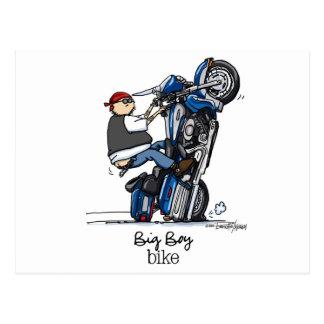 Motocicleta baja del jinete tarjetas postales