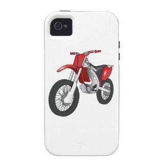 Motocicleta campo a través/de Enduro roja y negra iPhone 4 Fundas