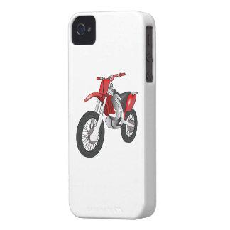 Motocicleta campo a través/de Enduro roja y negra Case-Mate iPhone 4 Carcasa