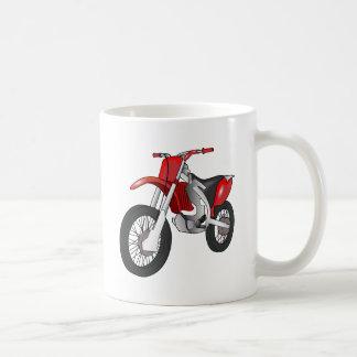 Motocicleta campo a través/de Enduro roja y negra Taza