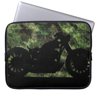 motocicleta camuflada fundas computadoras