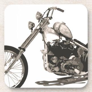 Motocicleta clásica americana del interruptor posavasos de bebida