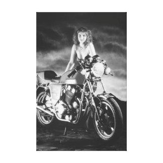 Motocicleta clásica modela clásica impresiones de lienzo