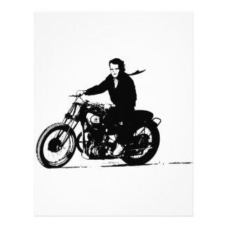 Motocicleta clásica simple del vintage membrete personalizado