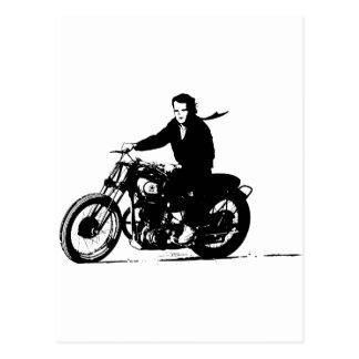 Motocicleta clásica simple del vintage postal
