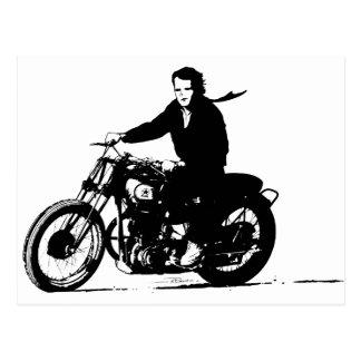 Motocicleta clásica simple del vintage tarjeta postal