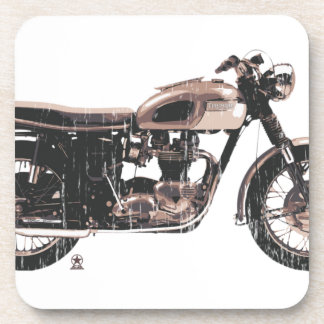 Motocicleta clásica simplemente hermosa posavasos
