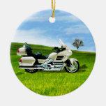 Motocicleta de Cindy Johnson Ornamento De Navidad