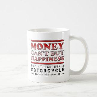 Motocicleta de compra de la felicidad taza