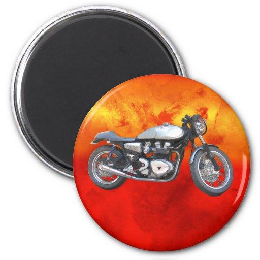 Motocicleta de David Vasquez Imán Redondo 5 Cm