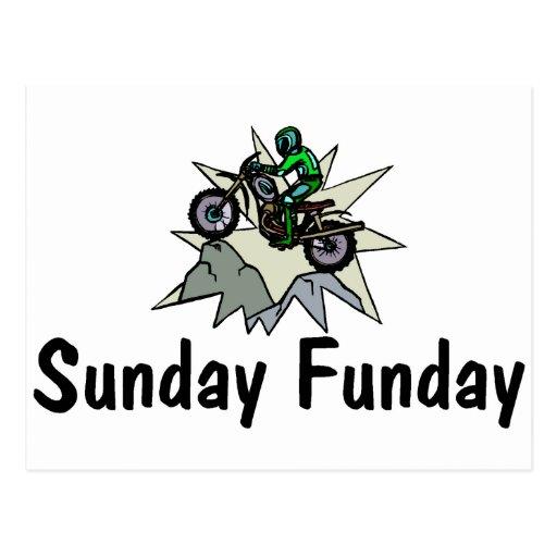 Motocicleta de domingo Funday Postal