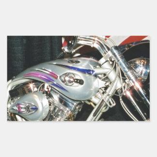Motocicleta de encargo americana de VTwin Pegatina Rectangular