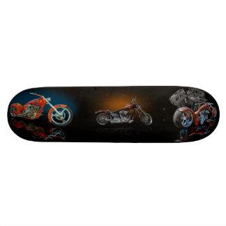 Motocicleta de encargo tablas de patinar