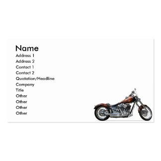 Motocicleta de encargo tarjetas personales