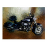 Motocicleta de Harley Tarjetas Postales
