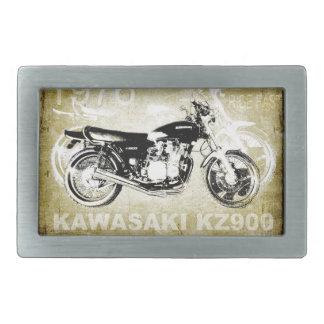 Motocicleta de Kawasaki KZ900 del vintage Hebillas De Cinturón Rectangulares