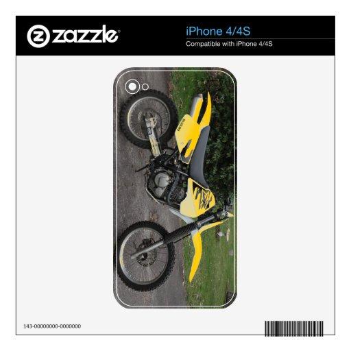 motocicleta de la bici de la suciedad de Suzuki dr Calcomanías Para iPhone 4