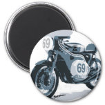 Motocicleta de la obra clásica del corredor del ca iman de frigorífico