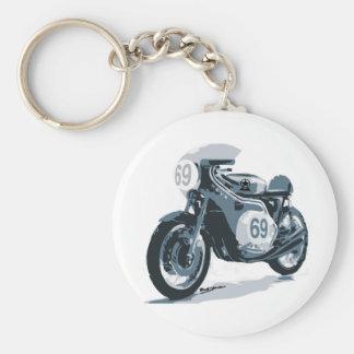 Motocicleta de la obra clásica del corredor del ca llaveros personalizados