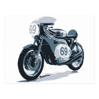 Motocicleta de la obra clásica del corredor del tarjeta postal