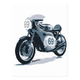 Motocicleta de la obra clásica del corredor del tarjetas postales