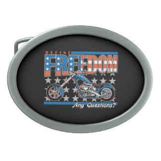 Motocicleta de la pintura de la bandera americana hebilla cinturón oval