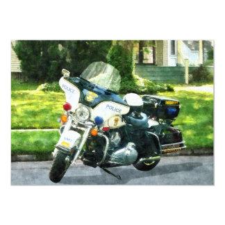"""Motocicleta de la policía invitación 5"""" x 7"""""""