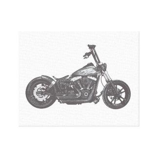motocicleta de la sacudida de la calle impresiones de lienzo